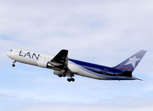 Avión aerolínea LAN