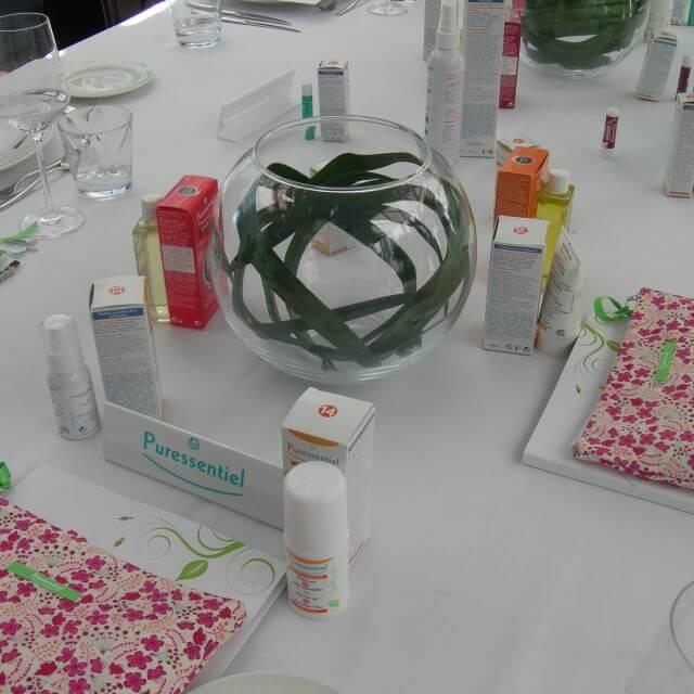 Muestra de productos del Evento Puressentiel